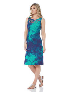 Roman Originals Women/'s Blue Ruffle Shift Dress Sizes 10-20