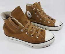 Converse brown suede leather hi top trainers junior 13 eu 31.5