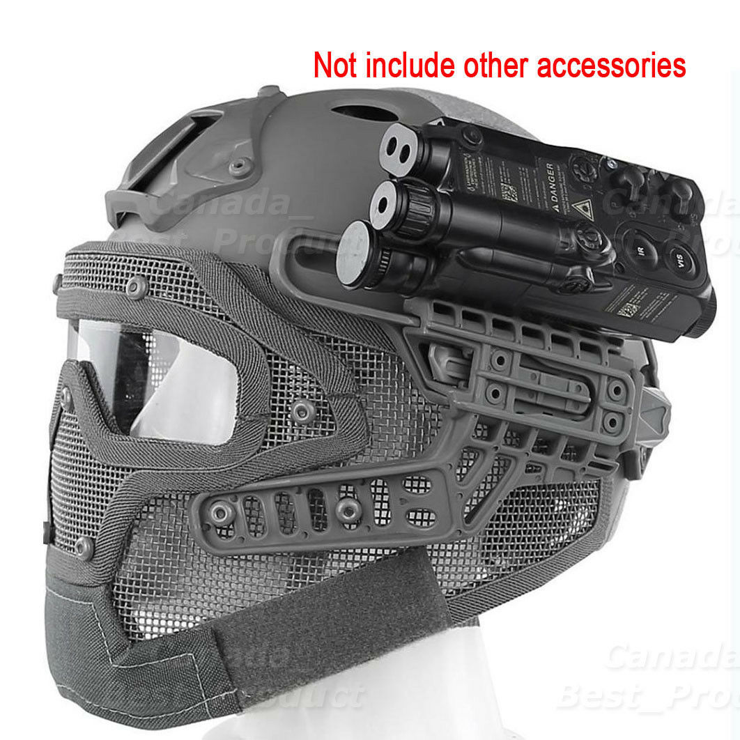 Tactical Tactical Tactical Protective Googles G4 System Full Face Mask Helmet Molle Paintball FG e16d32
