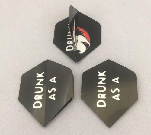 Unicorn Set of 3 Standard Flights /'Drunk As A/' Novelty Design Std Free P/&P