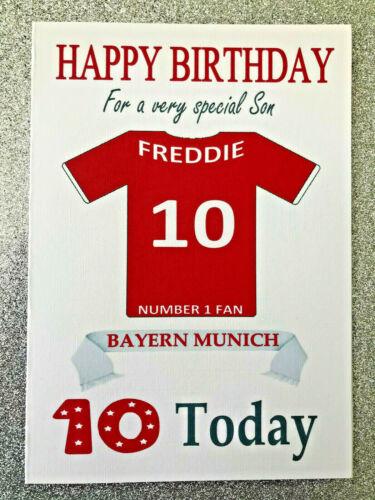 """/""""Le Bayern Munich/"""" Personnalisé Non Officiel Football CARTE D/'ANNIVERSAIRE Bundesliga allemande"""