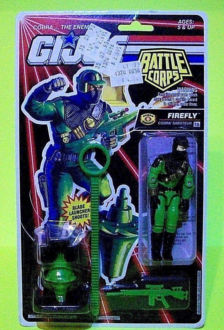 Vtg GI JOE Battle Corps FIREFLY FIREFLY FIREFLY Cobra Officer Action Figure Blade Weapon ARAH 1fb2a3