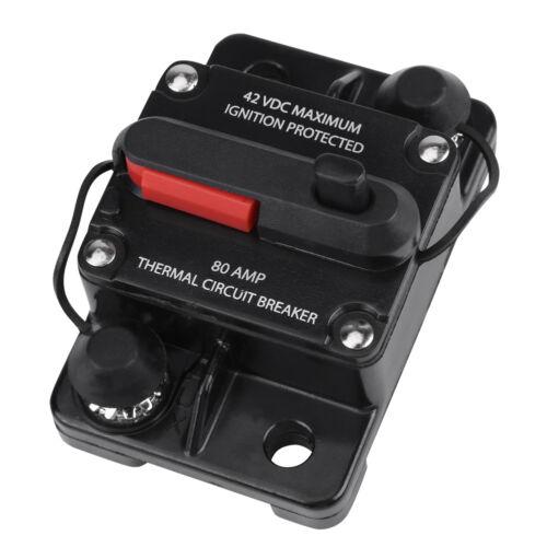 50A//80A//100A//150//250A Amp Manual Reset Fuse Circuit Breaker For Car Audio Marine
