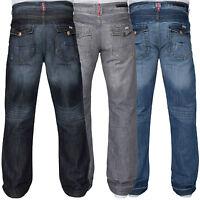 New Men's APT Designer Boot Cut Wide Leg Denim Jeans Size 28-48