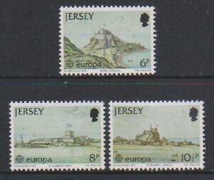 Jersey-1978-Europa-Chateaux-Ensemble-MNH-Sg-187-9