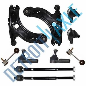 For VW Jetta//Beetle//Golf Front Lower New Control Arm Tie Rod Ball Joint Kit