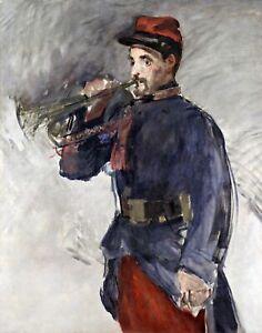 The Bugler by French  Edouard Manet. War Art .  11x14 Print