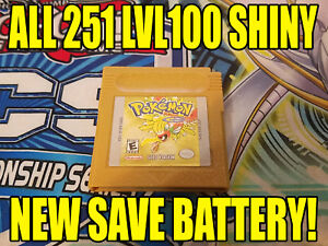 POKEMON-GOLD-All-251-SHINY-GAME-UNLOCKED-AUTHENTIC-amp-NEW-BATTERY