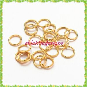 6mm-100pcs-Gold-Plated-Jump-Rings-Jewelry-Findings-Open-Split-Earring-Necklace