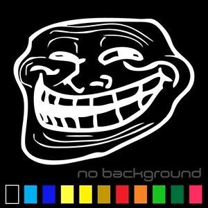 Troll face meme sticker vinyl decal car window trollface wall image is loading troll face meme sticker vinyl decal car window voltagebd Choice Image