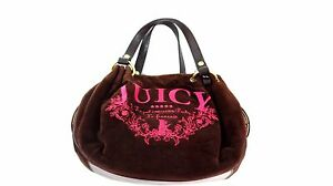 JUICY COUTURE REGAL COUTURE PARTY LE FRANCAIS BROWN PINK VELVET ... 76f5d1b12e90