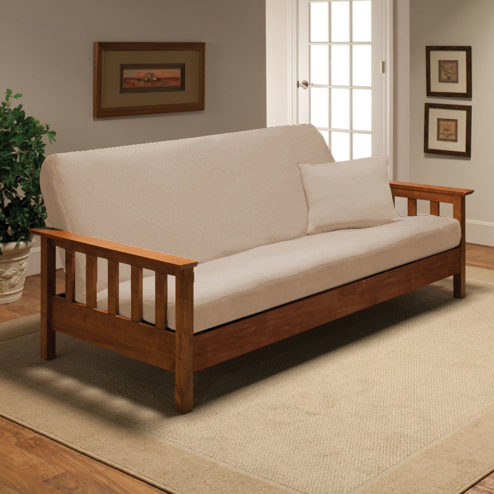 Madison Jersey Linen Futon Stretch Slipcover Couch Cover Furniture Futon Cover Ebay