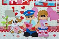 Love Letters / Valentines 2 Premade Scrapbook Pages Layout 12x12 Paper Piecing