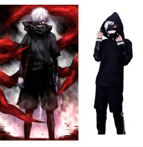 Tokyo Ghoul Kaneki Ken Japanese Anime Cosplay Costumes Battleframe Black Outfit!