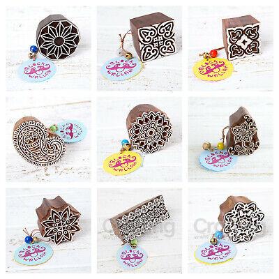 Blockwallah Pearl Paisley Wooden Block Stamp