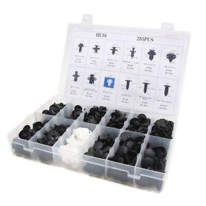 100Pcs Negro Plástico Remache Molduras Panel sujetador Clips de motor 13mm para Auto Coche