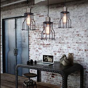 rustikale deckenleuchte weinlese leuchter h ngende lampen laden loft wohnzimmer ebay. Black Bedroom Furniture Sets. Home Design Ideas