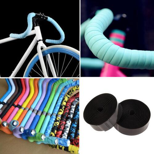 2PCS Cycling Road Bike Bicycle Handlebar Tape Bicycle Bar Wrap Ribbon Bar Plugs