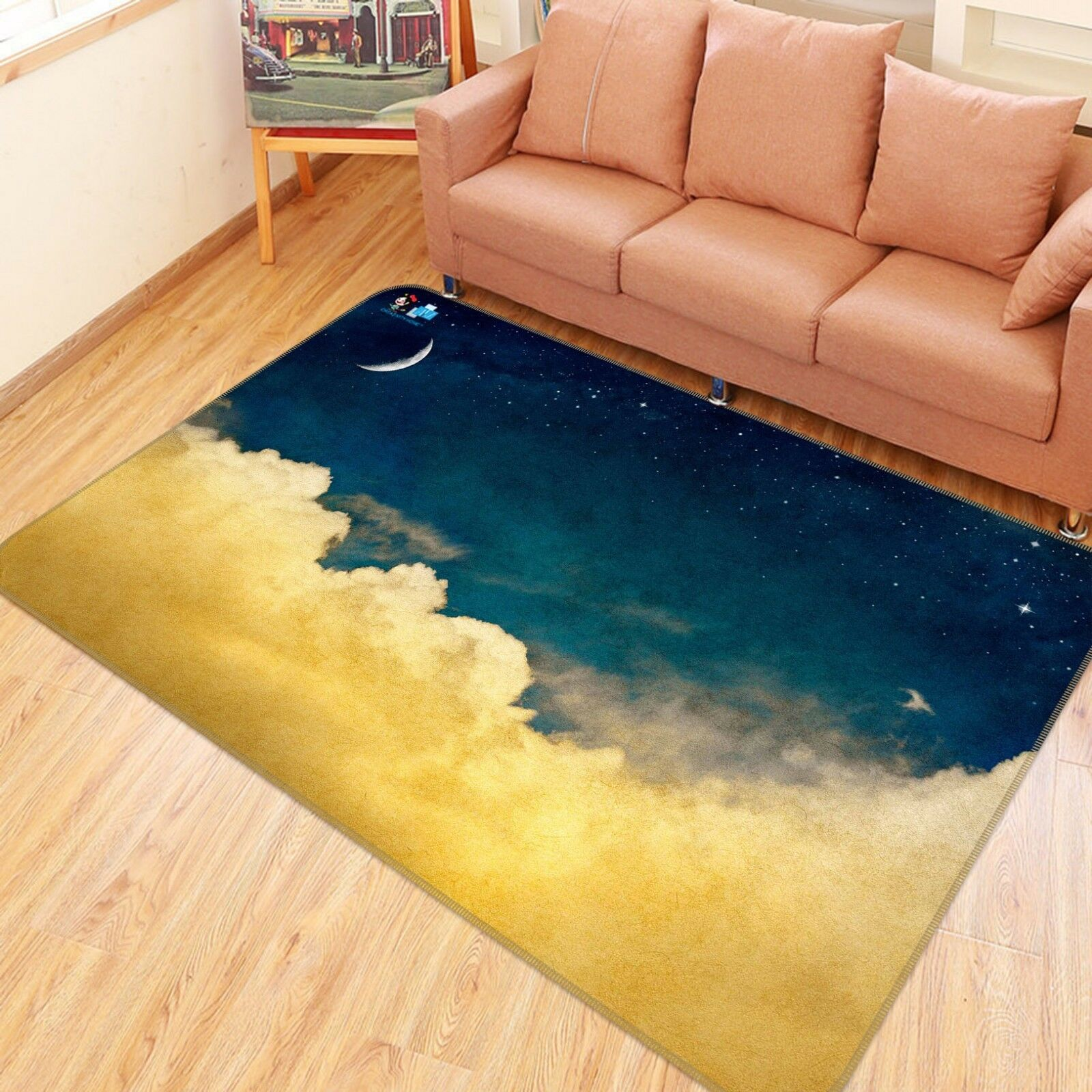3D Night Sky Clouds 78 Non Slip Rug Mat Room Mat Quality Elegant Photo Carpet AU