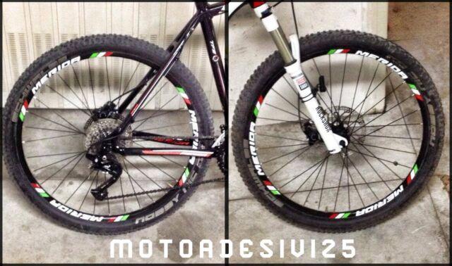 Strisce contorno cerchi mountain bike sticker adesivi bicicletta corsa mtb bmx