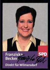 Franziska Becker Autogrammkarte Original Signiert ## BC 55871