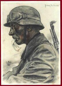 German WW 2 Third Reich postcard WEHRMACHT Despatch rider 1940