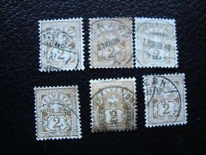 Switzerland-Stamp-Yvert-Tellier-N-63-x6-Cancelled-A36