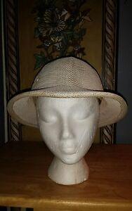 8531f092 Vintage Brookstone Hat, Garden, Pith Helmet Style, Mesh Woven Design ...