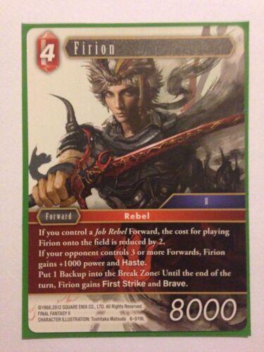 Final Fantasy TCG Pack fresh Firion 6-019L Opus 6