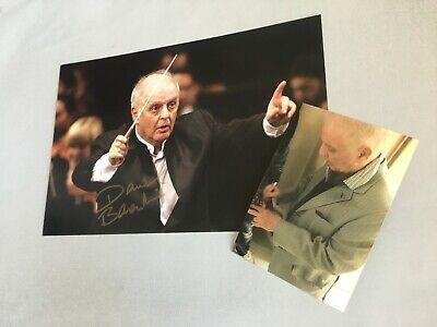 Daniel Barenboim Israeli Conductor&pianist In-person 2019 Signed Autograph 8x12 100% Guarantee Entertainment Memorabilia