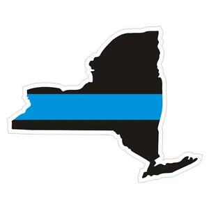New-York-State-NY-NYPD-Thin-Blue-Line-Police-Sticker-Decal-142-Made-in-U-S-A