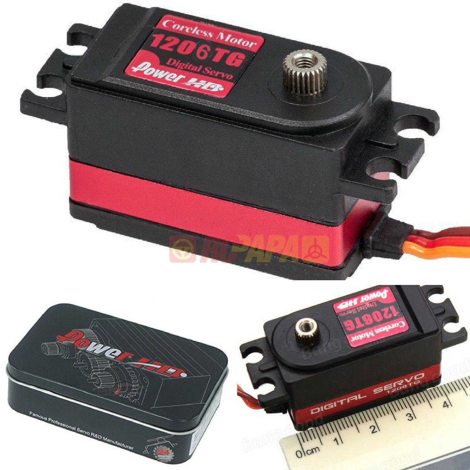 Power HD 7KG High Speed Digital Servo RC 1 10 Car Hobby 1206TG 6V 0.06sec NEW