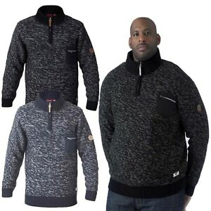 mens cardigans D555 duke knitted sweater big king size zipper top winter new