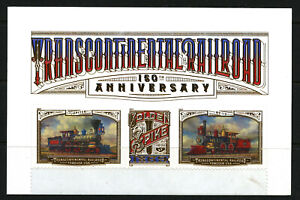 Transcontinental-Railroad-150-years-mint-strip-of-three-2019-USA-w-sheet-header