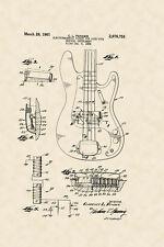Banjo Patent  Music 1932 Design  Vintage Poster Repro FREE SH