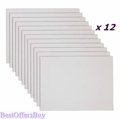 """12x Blank 11X14"""" Canvas Art Panel Stretched Mounted Artist Cotton Painting Board"""