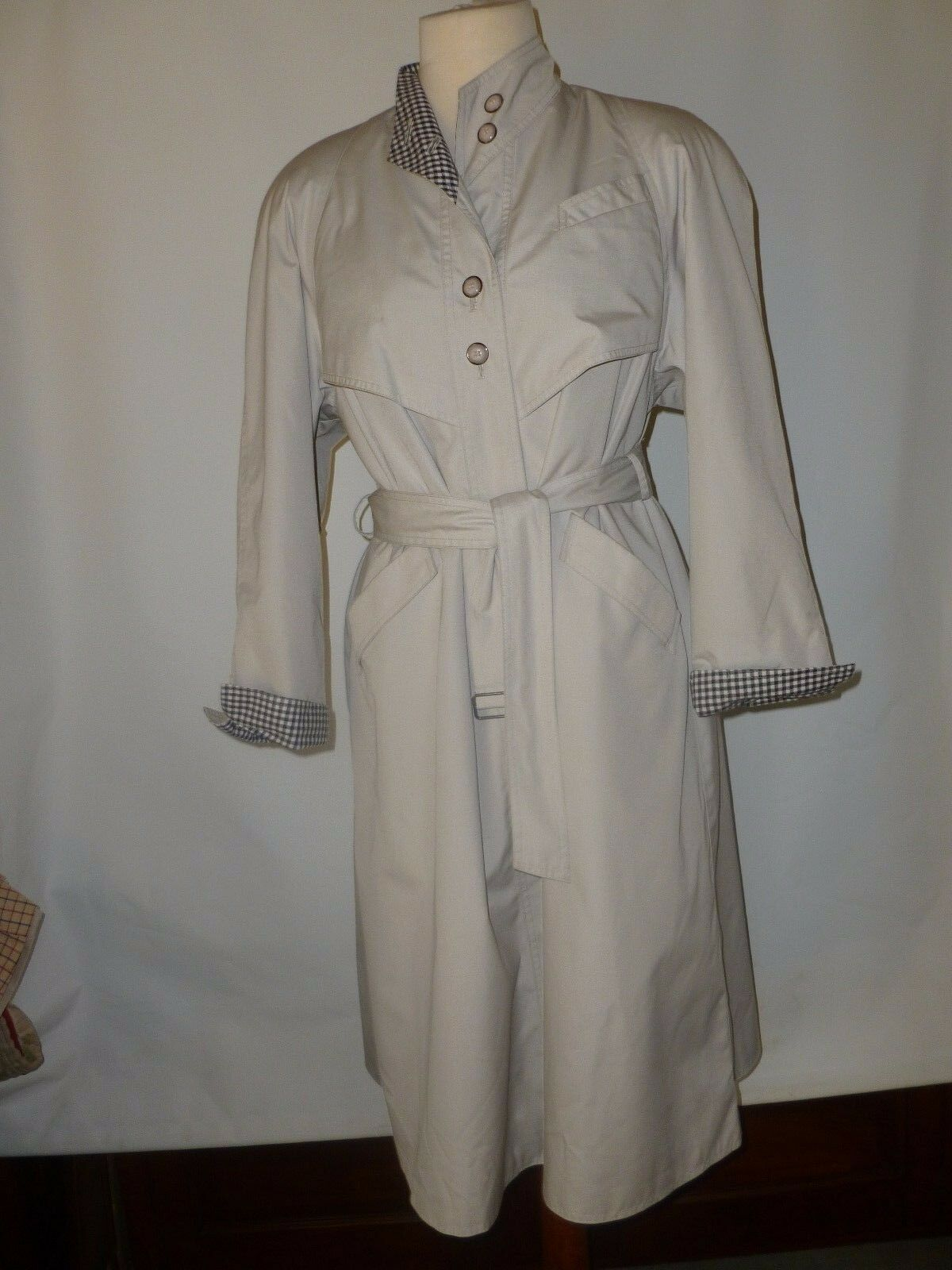 AQUABURY VINTAGE  MAC TRENCH RAINCOAT SIZE