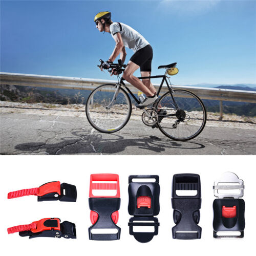 Plastic Motorcycle Helmet Speed Clip chin Strap Quick Release Red//Black