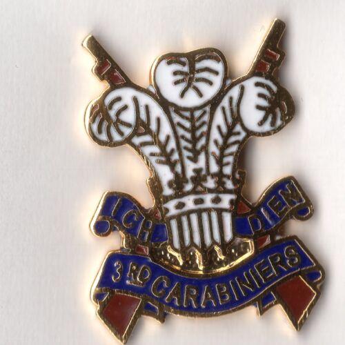 Enamel Lapel Badge 3rd Carabiniers