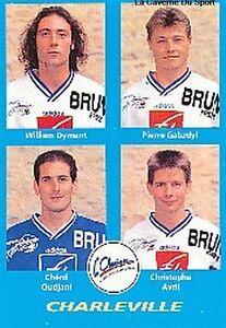N°362 OUDJANI # AVRIL # CHARLEVILLE VIGNETTE PANINI FOOTBALL 96 STICKER 1996