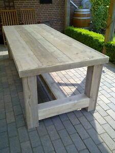 Details zu Ladenbau Tisch Bauholz Esstisch Gartentisch möbel Bauholzmöbel  220 - 100 - 76