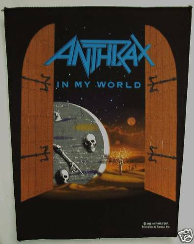 Vintage 90s Large Sew-On Patch Anthrax in my World