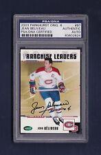 Jean Beliveau signed Canadiens 2003 Parkhurst Original 6 hockey card Psa slabbed