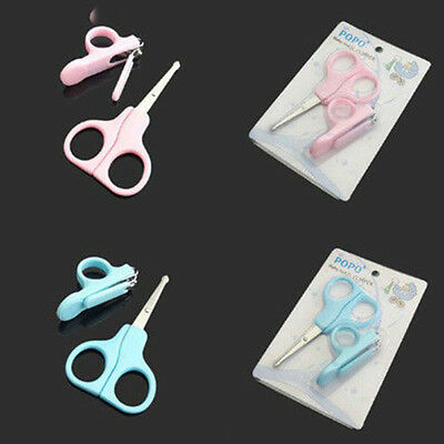 Lovely Mini Baby Toddler Daily Care Set Nail Clippers Scissors Trimmer 2 Colors