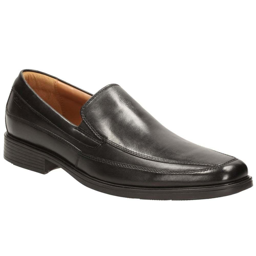 Billig gute Qualität Clarks Tilden Herren Leder Slipper