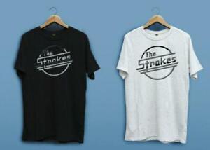 NEW-THE-STROKES-ROCK-BAND-LOGO-WHITE-BLACK-MEN-039-S-T-SHIRT-SHIRT-S-2XL-USA-SIZE