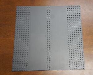 Genuine LEGO brick-piece dark gray 16x16 5in x 5in Base plates genuine with road