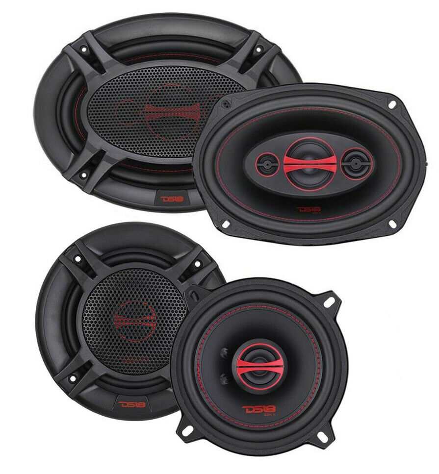 DTI Audio DS6960 6 X 9 3-Way 240 Watts Coaxial Car Audio Stereo Speakers 6X9 Inch Speakers Black Pioneer Mobile