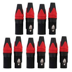 10-XLR-Maschio-e-Femmina-3-Pin-Cavo-audio-Connettore-tipo-Microfono-a