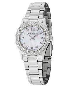 Stuhrling 703B.01 703B 01 Vogue Audrey Swiss Quartz Crystal Accents Womens Watch